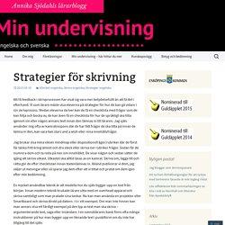 Strategier för skrivning