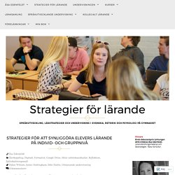Strategier för att synliggöra elevers lärande på individ- och gruppnivå – Strategier för lärande