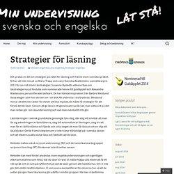 Strategier för läsning