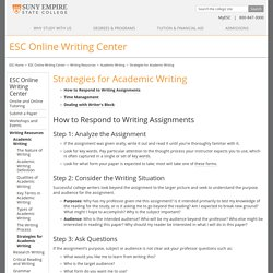 Strategies for Academic Writing
