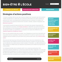 Strategies d'actions positives