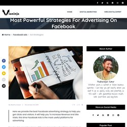 Most Powerful Strategies For Advertising On Facebook