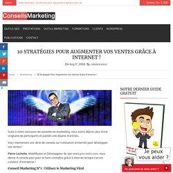 10 stratégies pour augmenter vos ventes grâce à Internet