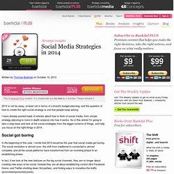 Social Media Strategies in 2014