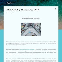 Retail Marketing Strategies BuzzyBooth