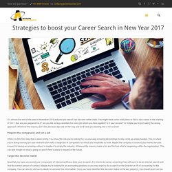 Strategies to boost your Career Search in New Year 2017