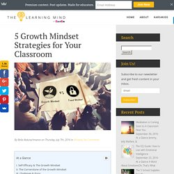 5 Growth Mindset Strategies for Your Classroom