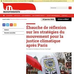 Ébauche de réflexion sur les stratégies du mouvement pour la justice climatique après Paris