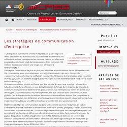 Les stratégies de communication d'entreprise