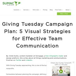 Giving Tuesday Campaign Plan: 5 Visual Strategies for Effective Team Communication