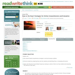 Hoax or No Hoax? Strategies for Online Comprehension and Evaluation