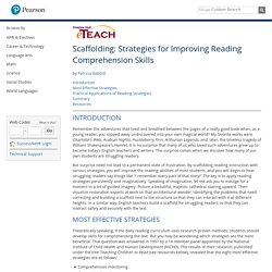 Pearson Prentice Hall: eTeach: Strategies for Improving Reading Comprehension