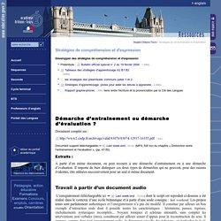 Anglais Orléans-Tours:Stratégies de compréhension et d'expression