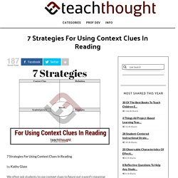 7 Strategies For Using Context Clues In Reading -