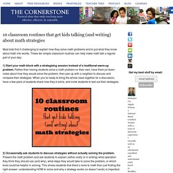 10 classroom routines that get kids talking (and writing) about math strategies