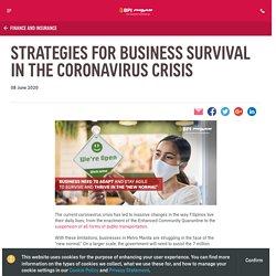 Strategies for Business Survival in the Coronavirus Crisis