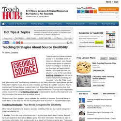 Teaching Strategies About Source Credibility