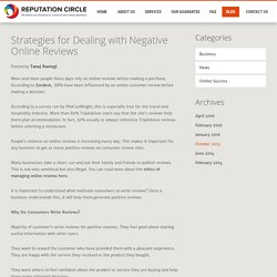 Strategies for Dealing with Negative Online Reviews