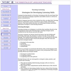 Strategies for Developing Listening Skills