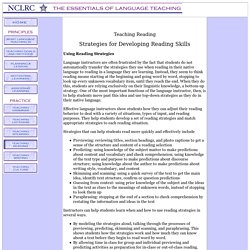 Strategies for Developing Reading Skills