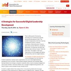 6 Strategies for Successful Digital Leadership Development