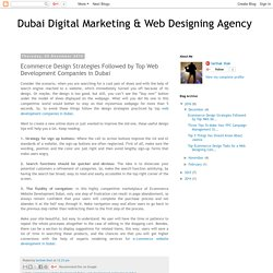 Ecommerce Design Strategies Followed by Top Web Development Companies in Dubai