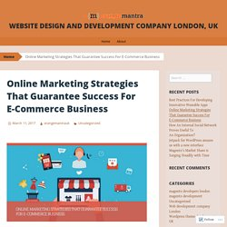 Online Marketing Strategies That Guarantee Success For E-Commerce Business