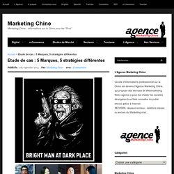 Etude de cas : 5 Marques, 5 stratégies différentes - Marketing Chine