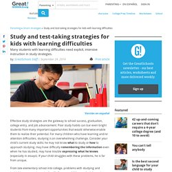 Test-taking strategies for kids with learning difficulties