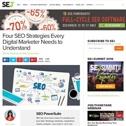 Four SEO Strategies Every Digital Marketer Needs