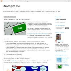 Stratégies RSE: Achats durables : par où commencer ?