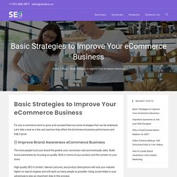 Basic Strategies to Improve Your eCommerce Business