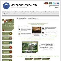 Strategies for a New Economy