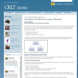 Strategies for Effective Lesson Planning