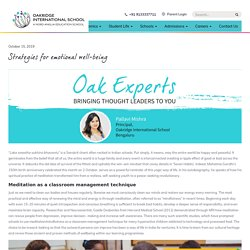 Strategies for emotional well-being - Oakridge