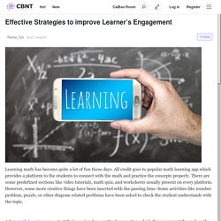 Effective Strategies to improve Learner's Engagement