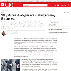 Why Mobile Strategies Are Stalling at Many Enterprises