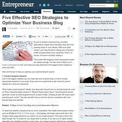 Optimize Your Business Blog