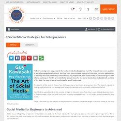 9 Social Media Strategies for Entrepreneurs