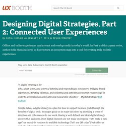 Designing Digital Strategies, Part 2: Connected User Experiences