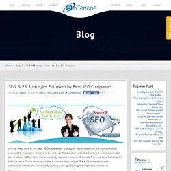 SEO & PR Strategies Followed by Best SEO Companies