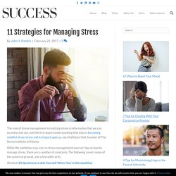 11 Strategies for Managing Stress
