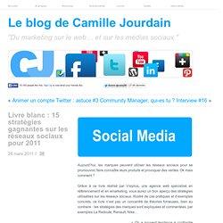 Livre blanc : 15 stratégies gagnantes sur les réseaux sociaux pour 2011 | Le Marketing sur le Web ... Social