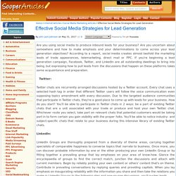 Effective Social Media Strategies for Lead Generation