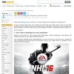 NHL Coins Strategies To Build an Ultimate Team IdleExperts