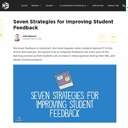 Seven Strategies for Improving Student Feedback