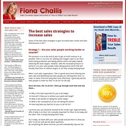 The best sales strategies to increase sales — Fiona Challis