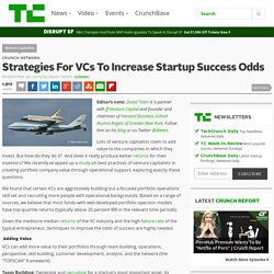 Strategies For VCs To Increase Startup Success Odds