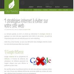 4 stratégies internet à éviter sur votre site web