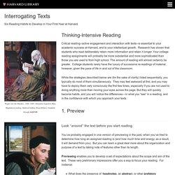 Reading Strategies - Interrogating Texts